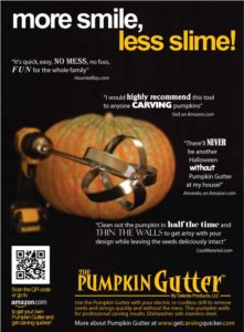 pumpkin gutter full page ad from national magazine